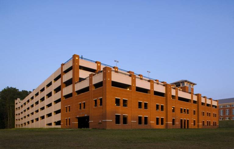University of North Carolina Charlotte Parking Deck, Structured Parking Construction, Choate Construction Company