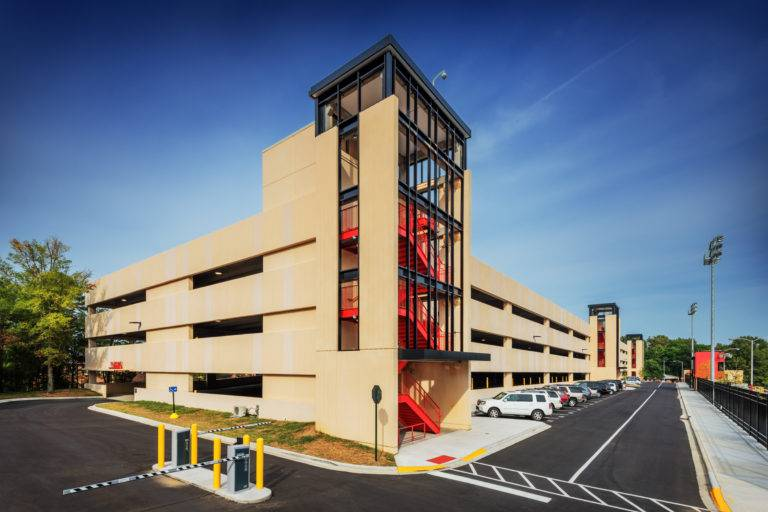 Charlotte Catholic High School Parking Deck, Charlotte NC, Choate Construction, Repeat Client