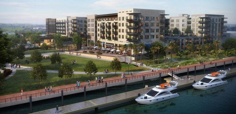 Riverworks at Eastern Wharf, Mixed-Use, Parking Deck, Multi-Family, Retail, Savannah, GA