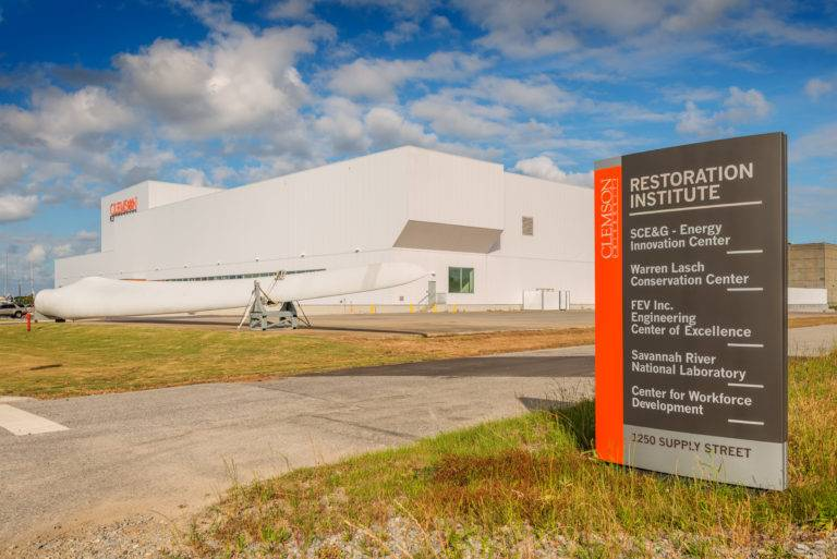 Exterior CLEMSON UNIVERSITY'S SCE&G ENERGY INNOVATION CENTER Choate Construction Global wind Energy Council Charleston South Carolina