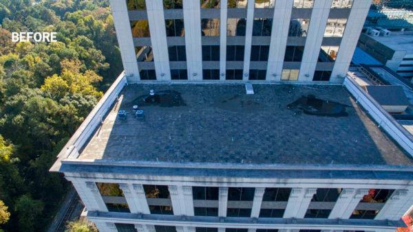 Resurgens Plaza Rooftop Plaza Before Atlanta