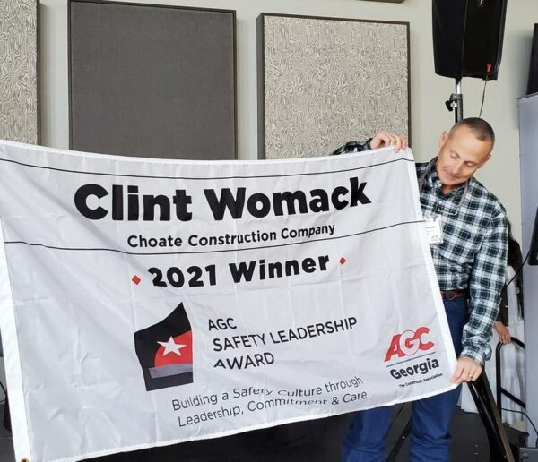 Choate Construction AGC Georgia Safety Leadership Award